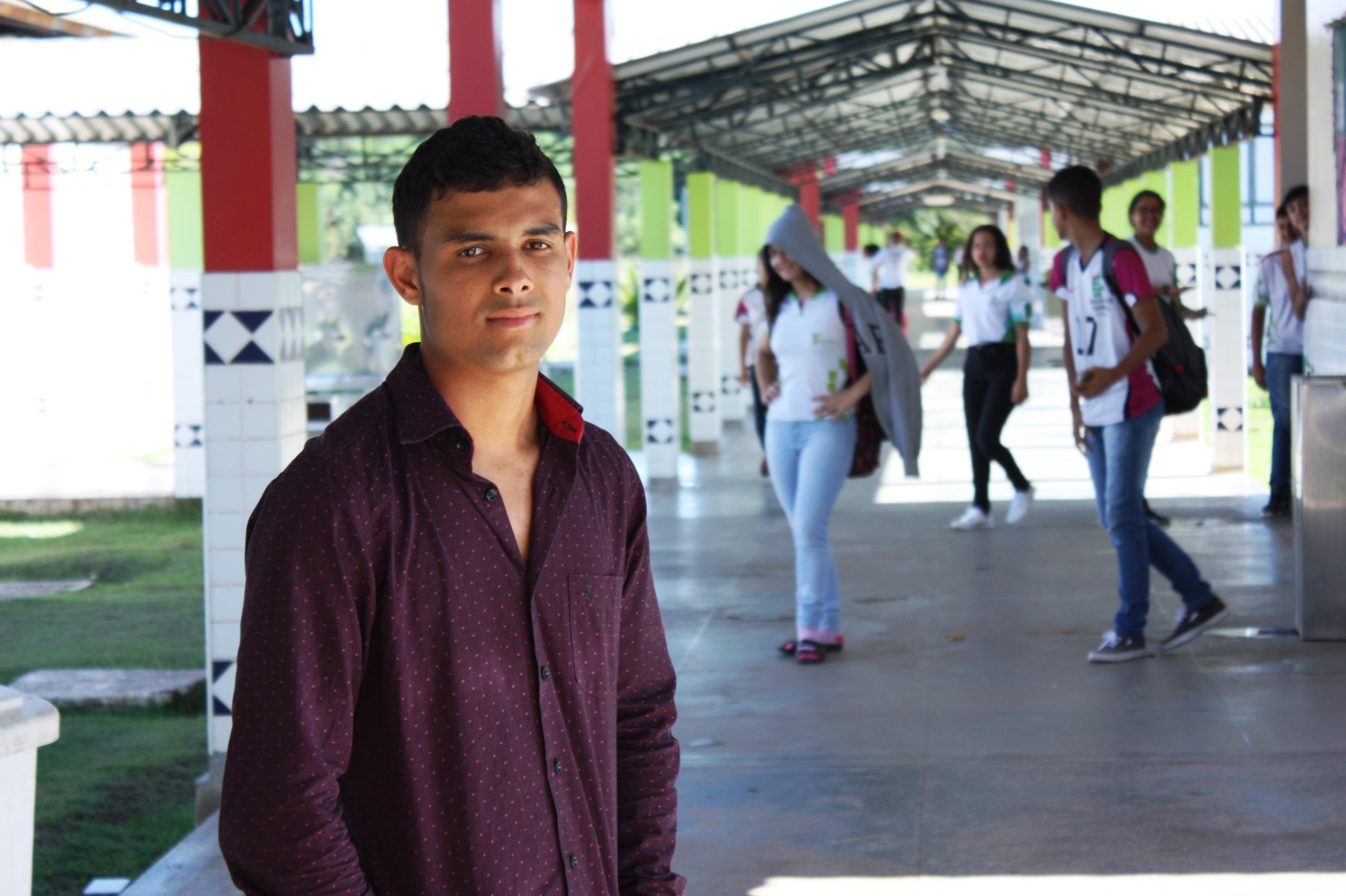 Savio Ferreira, um dos novos alunos do curso de Agronomia do CNP-IFRR.