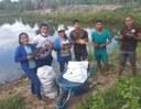 Comunidade indígena faz primeira despesca de projeto desenvolvido com ajuda do Campus Amajari