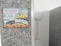 Banheiroteca, mais um espaço para leitura no Campus Novo Paraíso