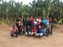 Estagiários do CNP visitam propriedade produtora de banana em Iracema