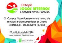 Jogos Internos do IFRR seguem com etapa no Campus Novo Paraíso