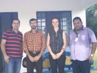 Doutorando iraniano e professora da UERR visitam Campus Novo Paraíso