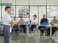 Reitor participa de encontro pedagógico no Câmpus Novo Paraíso
