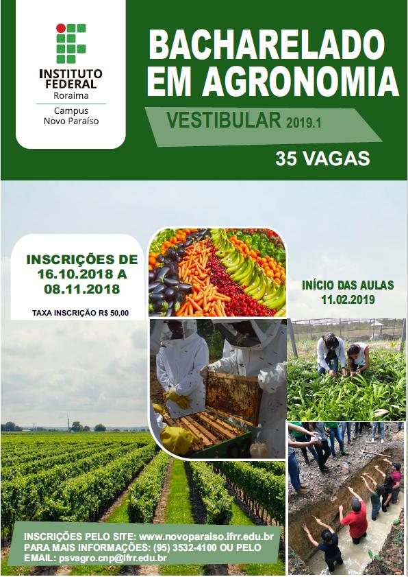 Vestibular 2019.1 – Publicado edital para o curso de Bacharelado em Agronomia