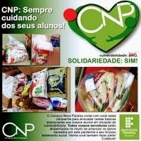 Servidores do CNP fazem doações de alimentos para famílias de alunos da unidade